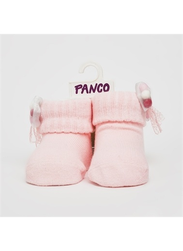 Panço 0-3 Yaş Kız Tekli Çorap 2012GB11002 Pembe